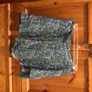 Anthro Amazon printed frilly shorts